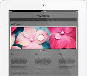 Make your own website – Fabrik website design