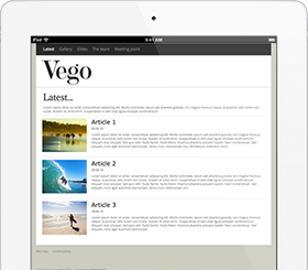 Make your own website – Vego website design